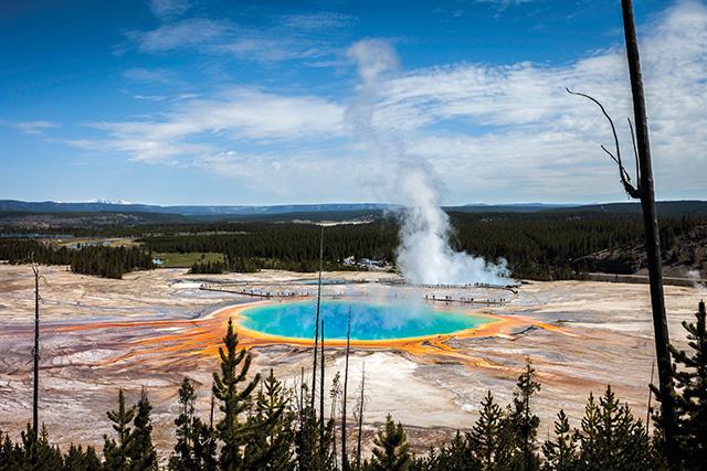 American Grand Prismatic Hot Springs