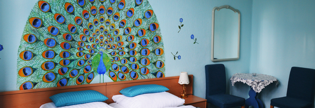 Hotel Pension Bella - 베를린 - 침실