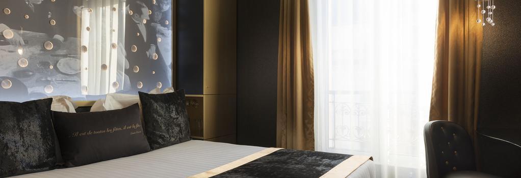 호텔 레 뷸 드 파리 - 파리 - 침실