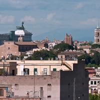 트릴루사 팰리스 호텔 로마 Roof Garden View