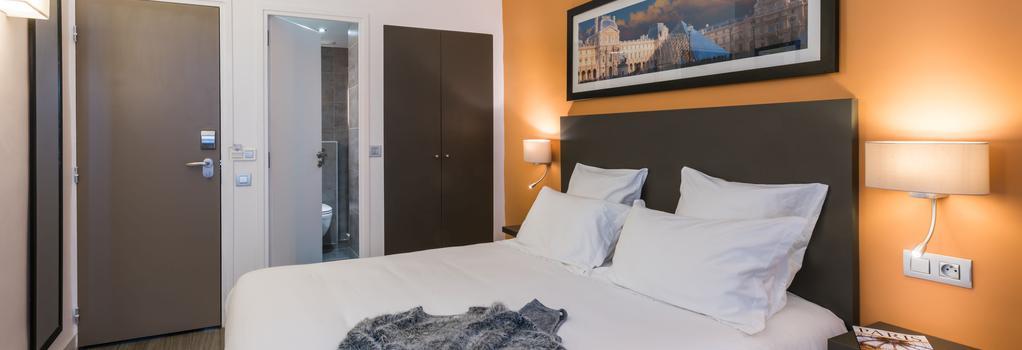 호텔 루브르 리첼리우 - 파리 - 침실