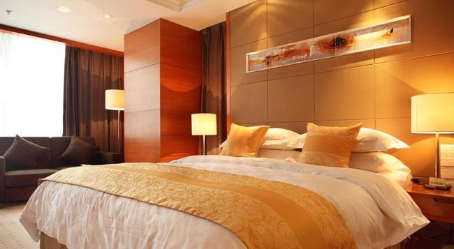 Noble Crown Hotel - Wuxi - 우시 - 침실