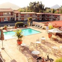 Sands Inn & Suites Pool Deck with Bishop Peak in Background
