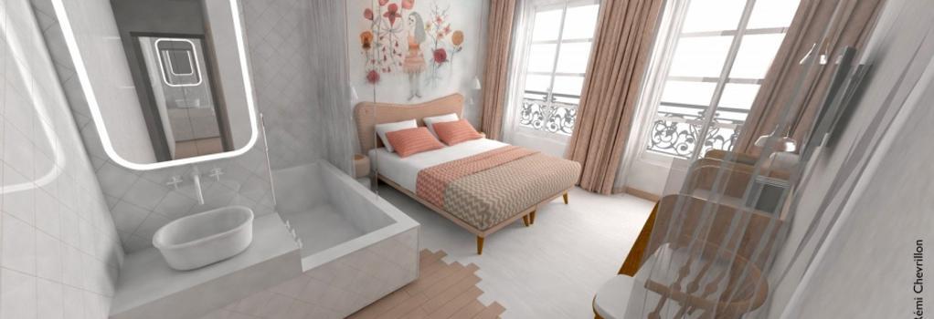 호텔 르 라핀 블랑 - 파리 - 침실