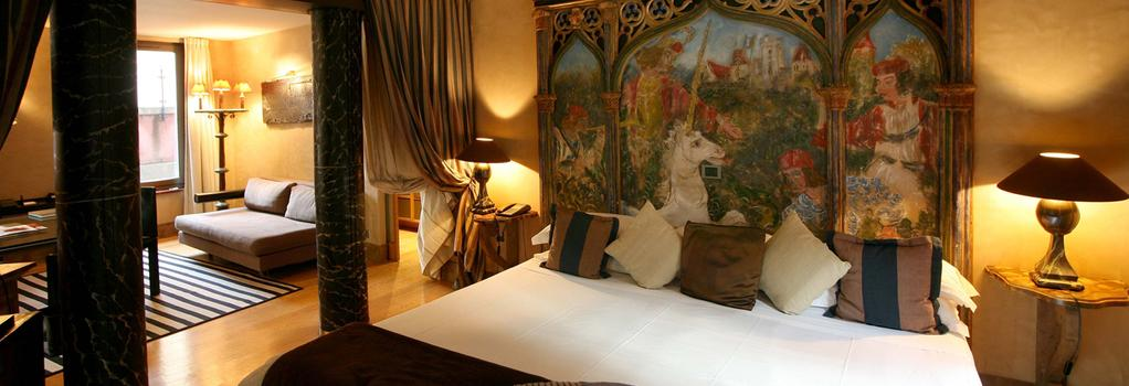 꾸르 데 로지 호텔 - 리옹 - 침실