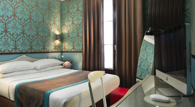 호텔 디자인 소르본 - 파리 - 침실
