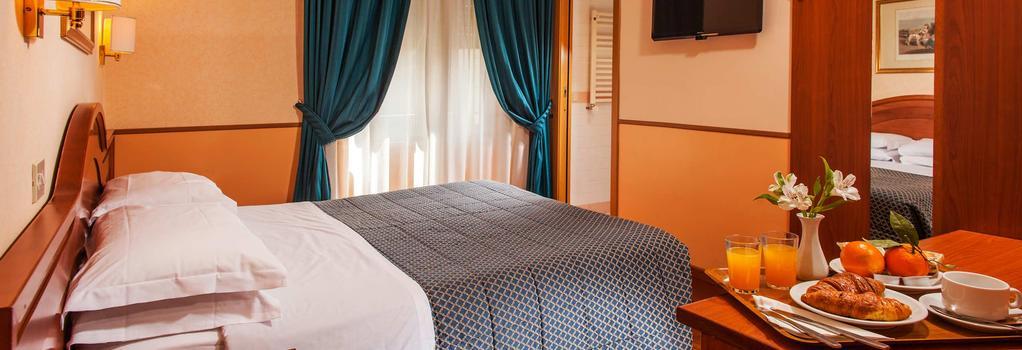 호텔 피에몬테 - 로마 - 침실