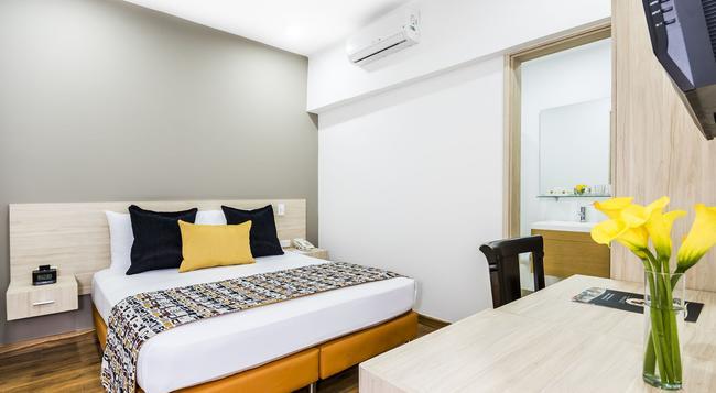 Hotel Asturias Medellin - 메델린 - 침실